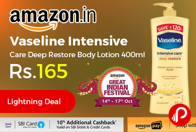 Vaseline Intensive Care Deep Restore Body Lotion 400ml
