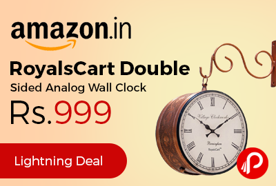 RoyalsCart Double Sided Analog Wall Clock