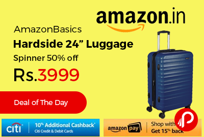 "AmazonBasics Hardside 24"" Luggage Spinner"