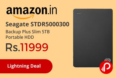 Seagate STDR5000300 Backup Plus Slim 5TB Portable HDD