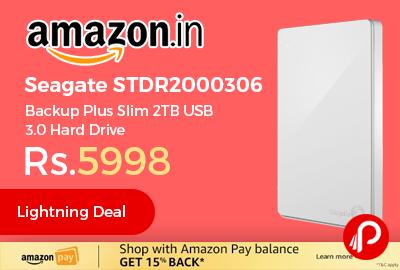 Seagate STDR2000306 Backup Plus Slim 2TB USB 3.0 Hard Drive