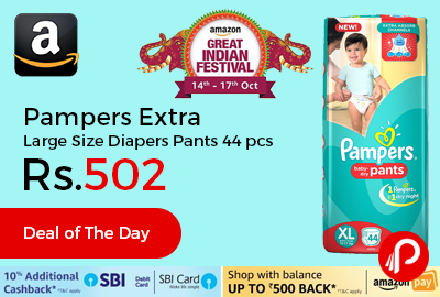 Pampers Extra Large Size Diapers Pants 44 Count