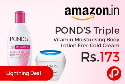 POND'S Triple Vitamin Moisturising Body Lotion Free Cold Cream
