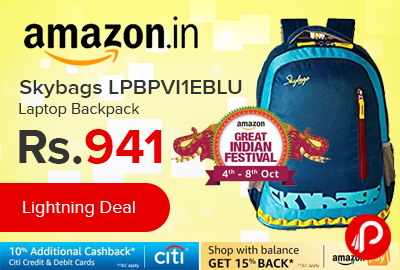 Skybags LPBPVI1EBLU Laptop Backpack