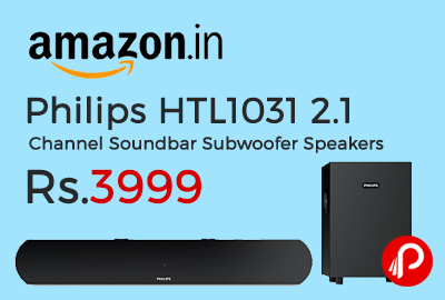 Philips HTL1031 2.1 Channel Soundbar Subwoofer Speakers