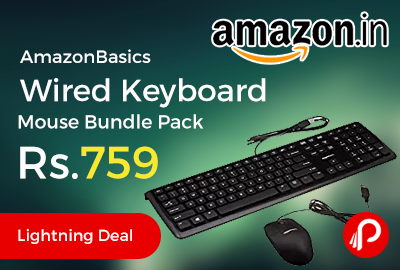 AmazonBasics Wired Keyboard Mouse Bundle