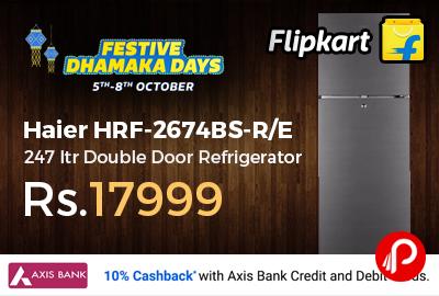 Haier HRF-2674BS-R/E 247 ltr Double Door Refrigerator