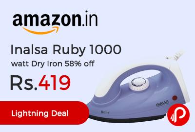 Inalsa Ruby 1000 watt Dry Iron