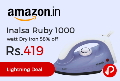 Inalsa Ruby 1000 watt Dry Iron
