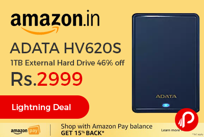 ADATA HV620S 1TB External Hard Drive