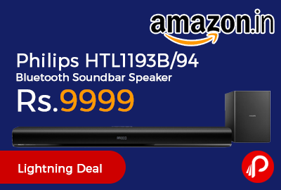 Philips HTL1193B/94 Bluetooth Soundbar Speaker