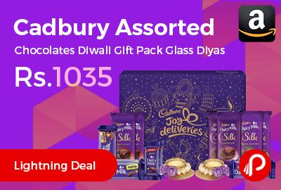 Cadbury Assorted Chocolates Diwali Gift Pack Glass Diyas