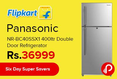 Panasonic NR-BC40SSX1 400ltr Double Door Refrigerator