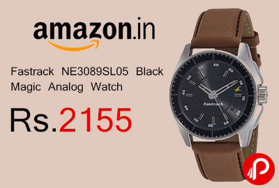 Fastrack NE3089SL05 Black Magic Analog Watch