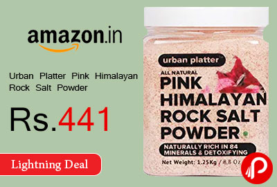 Urban Platter Pink Himalayan Rock Salt Powder Jar