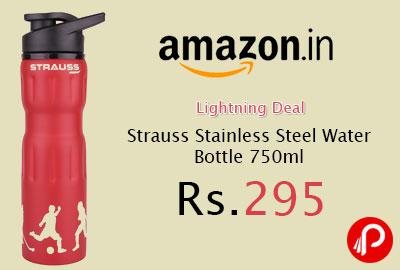 Strauss Stainless Steel Water Bottle 750ml