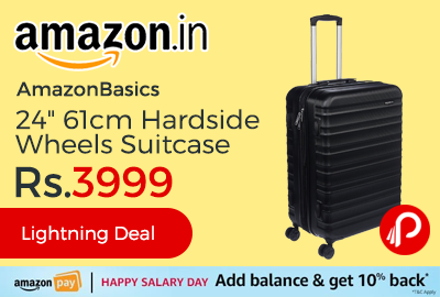 "AmazonBasics 24"" 61cm Hardside Wheels Suitcase"