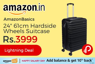 """AmazonBasics 24"""" 61cm Hardside Wheels Suitcase"""
