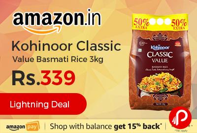 Kohinoor Classic Value Basmati Rice 3kg