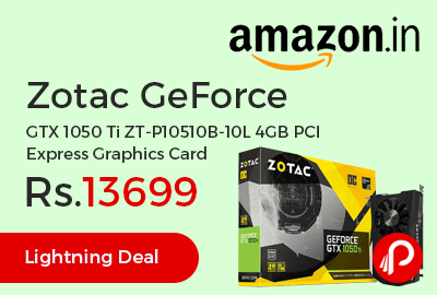 Zotac GeForce GTX 1050 Ti ZT-P10510B-10L 4GB PCI Express Graphics Card