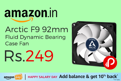 Arctic F9 92mm Fluid Dynamic Bearing Case Fan