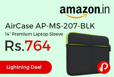 "AirCase AP-MS-207-BLK 14"" Premium Laptop Sleeve"