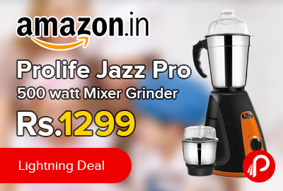Prolife Jazz Pro 500 watt Mixer Grinder