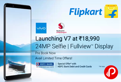 Vivo V7 Mobile 32gb 4gb Ram At Rs 17990 Only Flipkart