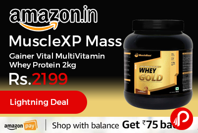 MuscleXP Mass Gainer Vital MultiVitamin Whey Protein 2kg