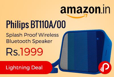 Philips BT110A/00 Splash Proof Wireless Bluetooth Speaker