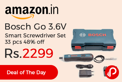 Bosch Go 3.6V Smart Screwdriver Set 33 pcs