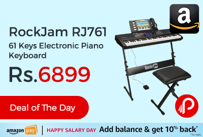 RockJam RJ761 61 Keys Electronic Piano Keyboard