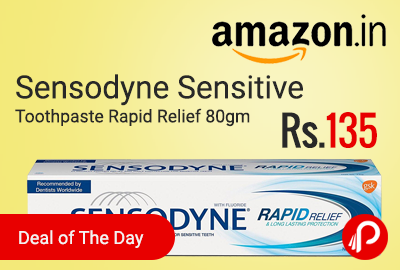 Sensodyne Sensitive Toothpaste Rapid Relief 80gm