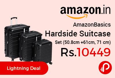 AmazonBasics Hardside Suitcase Set