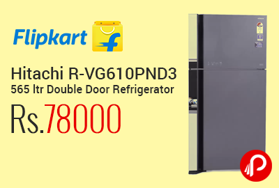 Hitachi R-VG610PND3 565 ltr Double Door Refrigerator