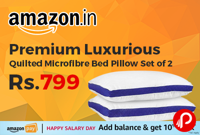 Premium Luxurious Quilted Microfibre Bed Pillow