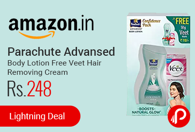 Parachute Advansed Body Lotion Free Veet Hair Removing Cream