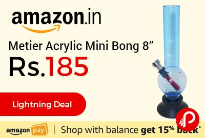 """Metier Acrylic Mini Bong 8"""""""