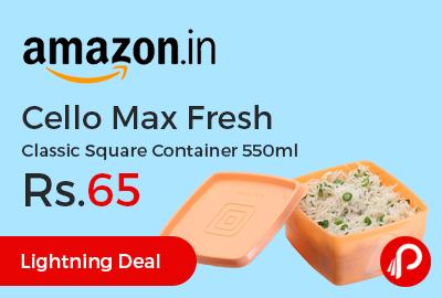 Cello Max Fresh Classic Square Container 550ml