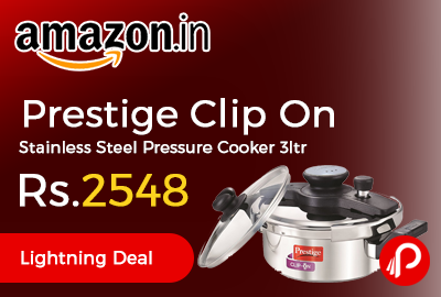Prestige Clip On Stainless Steel Pressure Cooker 3ltr