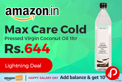 Max Care Cold Pressed Virgin Coconut Oil 1ltr