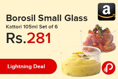 Borosil Small Glass Kattori 105ml Set of 6
