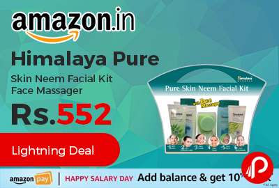 Himalaya Pure Skin Neem Facial Kit Face Massager