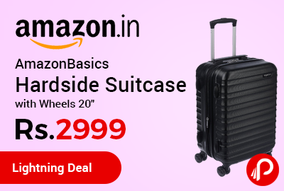 AmazonBasics Hardside Suitcase with Wheels