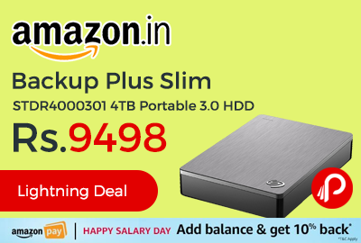 Backup Plus Slim STDR4000301 4TB Portable 3.0 HDD