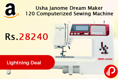 Usha Janome Dream Maker 120 Computerized Sewing Machine