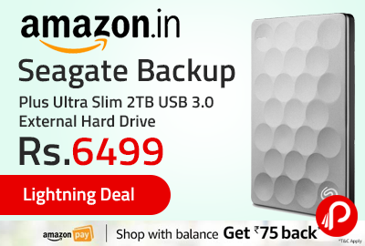 Seagate Backup Plus Ultra Slim 2TB USB 3.0 External Hard Drive