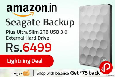 Seagate Backup Plus Ultra Slim 2TB USB 3.0 External Hard Drive