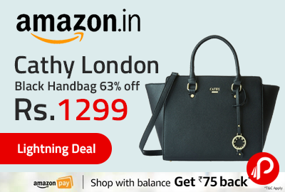 Cathy London Black Handbag