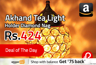 Akhand Tea Light Holder Diamond Nag